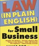 The Law ( In plan English) for the small  Business