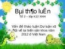Đề thảo luận:Dư luận xã hội về tai biến sản khoa năm 2012 ở Việt Nam