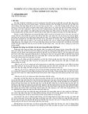 """Báo cáo khoa học """" NGHIÊN CỨU ỨNG DỤNG SƠN KỴ NƯỚC CHO TƯỜNG NGOÀI CÔNG TRÌNH XÂY DỰNG """""""
