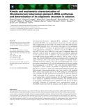 Báo cáo khoa học: Kinetic and mechanistic characterization of Mycobacterium tuberculosis glutamyl–tRNA synthetase and determination of its oligomeric structure in solution