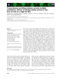 Báo cáo khoa học: Transcriptome profiling analysis reveals multiple modulatory effects of Ginkgo biloba extract in the liver of rats on a high-fat diet