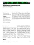 Báo cáo khoa học: Systems biology: experimental design Clemens Kreutz and Jens Timmer