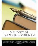 A Budget of Paradoxes, Volume II (of II)