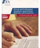 Ethical and Professional Standards, Quantitative Methods, and Economics