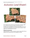 Autumn Leaf Shawl