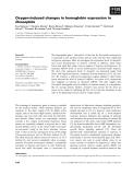 Báo cáo khoa học: Oxygen-induced changes in hemoglobin expression in Drosophila
