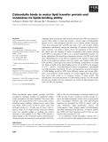 Báo cáo khoa học: Calmodulin binds to maize lipid transfer protein and modulates its lipids binding ability