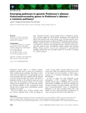 Báo cáo khoa học: Emerging pathways in genetic Parkinson's disease: Autosomal-recessive genes in Parkinson's disease – a common pathway?
