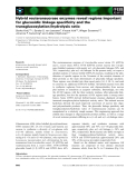 Báo cáo khoa học: Hybrid reuteransucrase enzymes reveal regions important for glucosidic linkage specificity and the transglucosylation / hydrolysis ratio