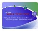 BÀI GIẢNG MẠNG VÀ TRUYỀN THÔNG (ThS.Nguyễn Văn Chức) - Chương 2. Các thiết bị kết nối mạng thông dụng