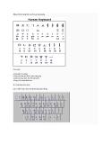 Bảng chữ cái tiếng Hàn và phím gõ tương ứng