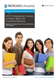 2012 Postgraduate Courses   in Public Health and   Preventive Medicine