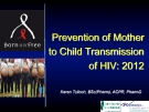 Prevention of Mother to Child Transmission of HIV: 2012