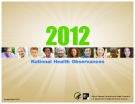 2012 National Health Observances
