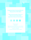 Empowering Communities to Respond to HIV/AIDS Ndola Demonstration Project on Maternal and Child Health: Operations Research Final Report