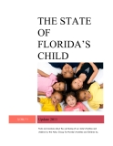 THE STATE OF FLORIDA'S CHILD Update 2011