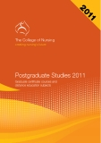 Postgraduate Studies 2011 Graduate certificate courses and distance education subjects
