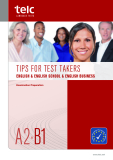 TIPS FOR TEST TAKERS  ENGLISH & ENGLISH SCHOOL & ENGLISH BUSINESS