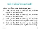 BÀI GIẢNG: CHƯƠNG 5 - THUẾ THU NHẬP DOANH NGHIỆP