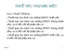 CHƯƠNG 3: THUẾ TIÊU THỤ ĐẶC BIỆT