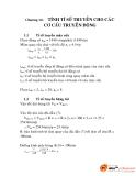 Chương 16:  TÍNH TỈ SỐ TRUYỀN CHO CÁC CƠ CẤU TRUYỀN ĐỘNG