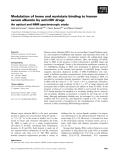Báo cáo khoa học: Modulation of heme and myristate binding to human serum albumin by anti-HIV drugs An optical and NMR spectroscopic study
