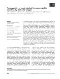 Báo cáo khoa học: Ferrocyanide ) a novel catalyst for oxymyoglobin oxidation by molecular oxygen
