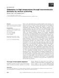 Báo cáo khoa học: Adaptation to high temperatures through macromolecular dynamics by neutron scattering