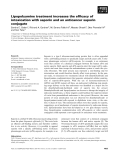 Báo cáo khoa học: Lipopolyamine treatment increases the efficacy of intoxication with saporin and an anticancer saporin conjugate