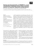 Báo cáo khoa học: Cloning and characterization of AtNUDT13, a novel mitochondrial Arabidopsis thaliana Nudix hydrolase specific for long-chain diadenosine polyphosphates