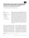 Báo cáo khoa học: Using directed evolution to improve the solubility of the C-terminal domain of Escherichia coli aminopeptidase P Implications for metal binding and protein stability