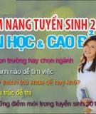 CẨM NANG TUYỂN SINH 2013 ĐẠI HỌC, CAO ĐẲNG - PHẦN 1