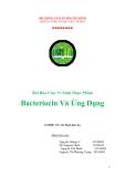 Bài Báo Cáo: Vi Sinh Thực Phẩm Bacteriocin Và Ứng Dụng