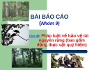 Chủ đề: Pháp luật về bảo vệ tài nguyên rừng (bao gồm động thực vật quý hiếm)