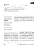 Báo cáo khoa học: Protein tyrosine phosphatases: functional inferences from mouse models and human diseases