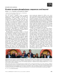Báo cáo khoa học:  Protein tyrosine phosphatases: sequences and beyond