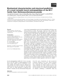 Báo cáo khoa học: Biochemical characterization and structural prediction of a novel cytosolic leucyl aminopeptidase of the M17 family from Schizosaccharomyces pombe