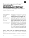 Báo cáo khoa học: Receptor binding characteristics of the endocrine disruptor bisphenol A for the human nuclear estrogen-related receptor c
