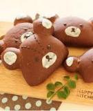 Bánh kem sôcôla đầu gấu dễ thương