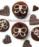 Bánh Cupcake sôcôla đeo nơ xinh xắn