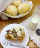 Bánh mỳ dừa nhân chocolate cho bữa sáng ngon miệng