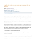 Nguồn gốc và cấu trúc các thuật ngữ Khí tượng Thủy văn Anh Việt