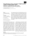 Báo cáo khoa học: Thermodynamics of the b2 association in light-harvesting complex I of Rhodospirillum rubrum Implication of peptide identity in dimer stability