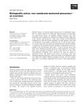 Báo cáo khoa học: Biologically active, non membrane-anchored precursors – an overview