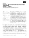 Báo cáo khoa học: Epigenetics: differential DNA methylation in mammalian somatic tissues