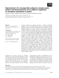 Báo cáo khoa học: Improvement of a monopartite ecdysone receptor gene switch and demonstration of its utility in regulation of transgene expression in plants
