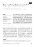 Báo cáo khoa học: Structural studies of nucleoside analog and feedback inhibitor binding to Drosophila melanogaster multisubstrate deoxyribonucleoside kinase