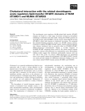 Báo cáo khoa học: Cholesterol interaction with the related steroidogenic acute regulatory lipid-transfer (START) domains of StAR (STARD1) and MLN64 (STARD3)