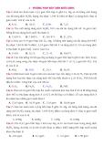 10 Phương pháp giải nhanh bài tập trắc nghiệm Hóa học - LTĐH