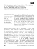 Báo cáo khoa học: Critical molecular regions for elicitation of the sweetness of the sweet-tasting protein, thaumatin I